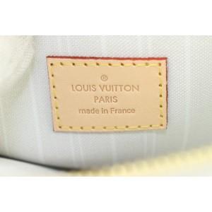 Louis Vuitton Peach Mist Brume Neverfull Pochette Wristlet Pouch Bag 145lvs430