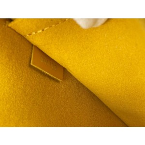 Louis Vuitton Yellow Epi Leather Neverfull Pochette Wristlet Pouch Bag 39LVL1125