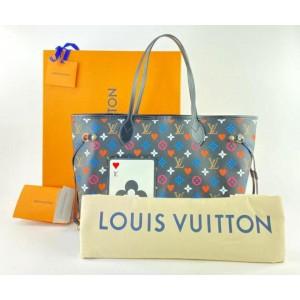 Louis Vuitton Poker Black Multicolor Game On Monogram Neverfull 861872