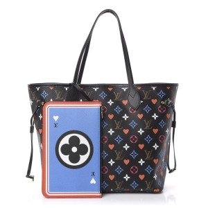 Louis Vuitton Rare Game On Multicolor Black Neverfull MM with Pouch 861865