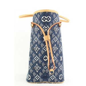 Louis Vuitton Blue Since 1854 Monogram Neverfull MM tote bag 323lvs223