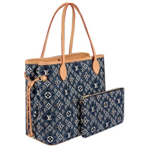 Louis Vuitton Blue Since 1854 Monogram Neverfull MM Tote Bag with Pouch 18lvs111