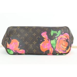 Louis Vuitton Ultra Rare Monogram Roses Neverfull MM Tote Bag 5lvs112