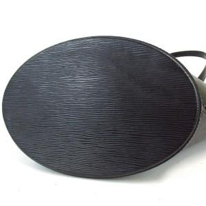 Louis Vuitton Black Epi Noir Saint Jacques Zip Tote 872885