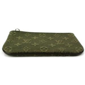Louis Vuitton Khaki Green Coin Purse Pochette Cles Olive Monogram Min Lin Key 872855
