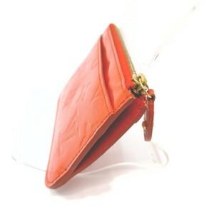 Louis Vuitton Orange Monogram Vernis Pochette Cles NM Key Pouch Keychain 862737