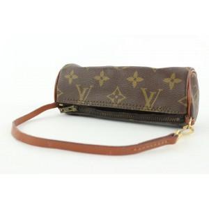 Louis Vuitton Monogram Mini Papillon Wristlet Bag 902lvs413