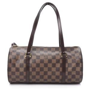 Louis Vuitton Damier Ebene Papillon 30 Boston Cylinder Bag
