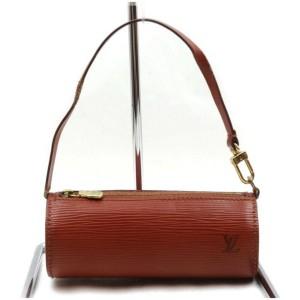 Louis Vuitton Brown Epi Leather Mini Papillon Soufflot Wristlet Pouch Bag 862422