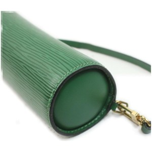 Louis Vuitton Green Epi Leather Mini Soufflot Papillon Wristlet Bag 862423