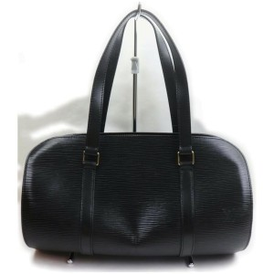 Louis Vuitton Black Epi Leather Noir Soufflot Papillon Bag 861957