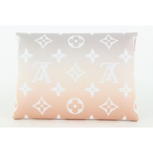 Louis Vuitton Peach Mist Monogram By The Pool Kirigami Envelope Pouch PM Small 796lv