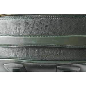 Louis Vuitton Green Taiga Leather Pegase 45 Rolling Luggage Trolley Suitcase 400lv22