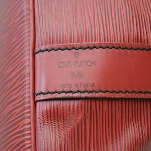 Louis Vuitton Red Epi Leather Petit Noe Drawstring Bucket Hobo Bag 863204