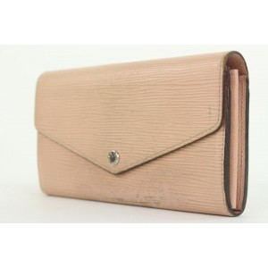 Louis Vuitton Blush Pink Epi Leather Sarah Long Flap Wallet 18lvs18