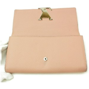 Louis Vuitton Capucines Long Wallet Pink Taurillon Leather 872254