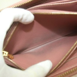 Louis Vuitton Ikat Zippy Wallet Flower Pink Vernis Monogram 872899