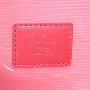 Louis Vuitton Lagoon Bay Plage Clear Translucent Epi Baia Gm with Pouch 868944 Red Vinyl Tote