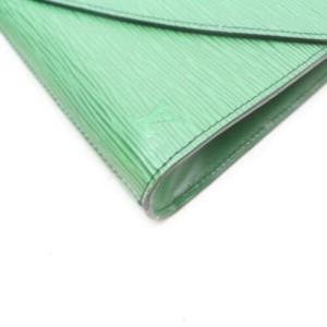 Louis Vuitton Green Epi Borneo Pochette Art Deco Envelope Clutch 872893
