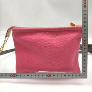 Louis Vuitton Pink Antigua Cabas Pochette Pouch with Monogram Strap 862484
