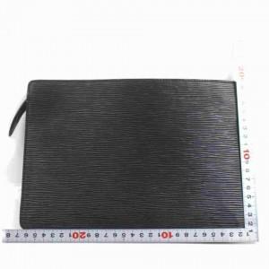 Louis Vuitton Black Epi Pochette Home Envelope Clutch 860457