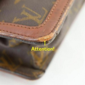 Louis Vuitton Monogram Pochette Dame GM Envelope Clutch 860610