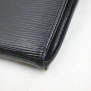 Louis Vuitton  Black Epi Leather Noir Pochette Accessories Wristlet Bag 862320