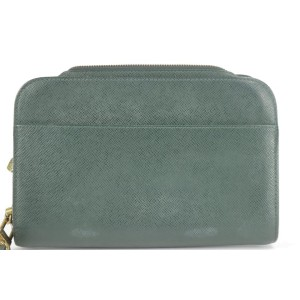 Louis Vuitton Green Taiga Pochette Orsay Wristlet 2LK1219