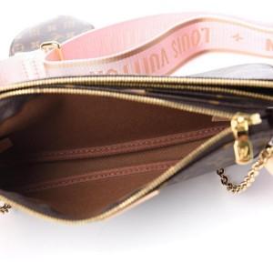 Louis Vuitton Rose Clair Monogram Multi Pochette Accessories Trio Crossbody 858630