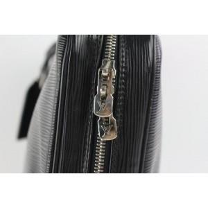 Louis Vuitton Black Epi Noir Porte-Documents Voyage 15lz0914