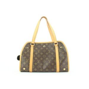 Louis Vuitton Rare Discontinued Monogram Baxter PM Dog Cat Pet Carrier Bag 365lvs0