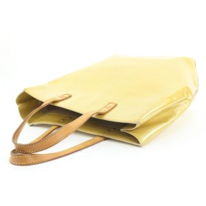 Louis Vuitton Yellow-Beige Monogram Vernis Reade MM Tote Bag 37lvs115