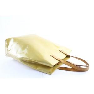 Louis Vuitton Reade Mm 19lr0323 Yellow Monogram Vernis Leather Tote