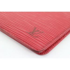 Louis Vuitton Red Epi Leather Card Case Wallet 829lvs47