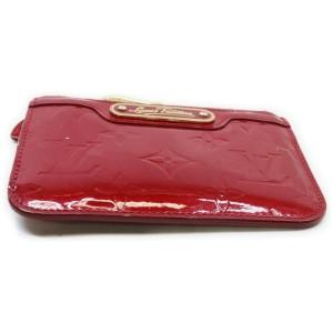 Louis Vuitton Dark Red Monogram Vernis Pochette Cles Key Pouch 862996