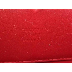 Louis Vuitton Red Zippy Monogram Vernis 226818 Wallet
