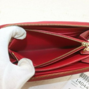 Louis Vuitton Kusama Infinity Dots Pumpkin Red Monogram Vernis Zippy Wallet 862073
