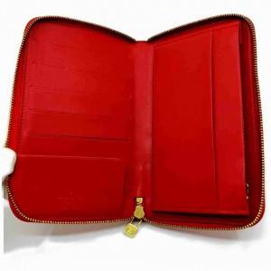 Louis Vuitton Monogram Vernis Red Zippy Organizer Wallet Zip Around GM