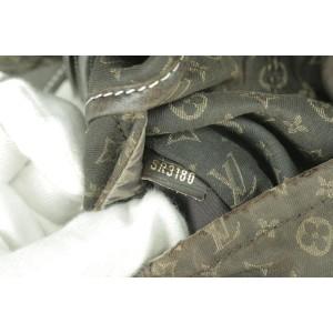 Louis Vuitton Ebene Monogram Mini Lin Romance Hobo 14LK0108