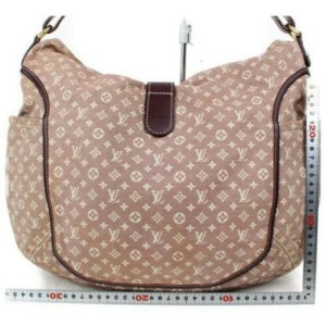 Louis Vuitton Romance Hobo Sepia Mini Lin 872816 Bordeaux Monogram Idylle Shoulder Bag