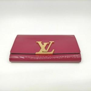 Louis Vuitton Indian Rose Portefeuille Louise Wallet Flap Pink Vernis 861159