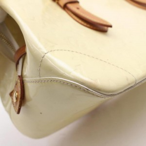 Louis Vuitton Rosewood Avenue Perle Monogram Vernis 869534 Ivory Patent Leather Tote