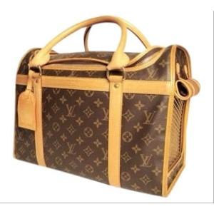 Louis Vuitton Sac Chien Monogram 40 Pet Cartier Dog Cat 3lva82 Brown Coated Canvas Weekend/Travel Bag