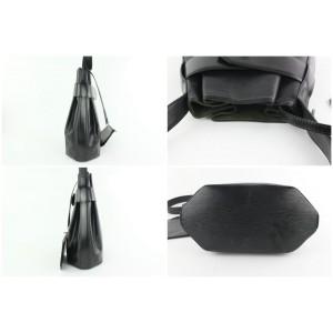 Louis Vuitton Sac D'epaule Noir with Pouch 18lz1019 Black Leather Shoulder Bag