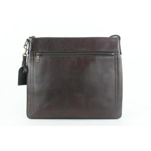 Louis Vuitton Dark Brown Leather Sac Plat Crossbody Bag 254lvs56