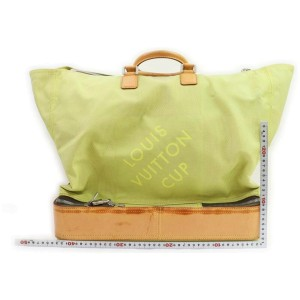 Louis Vuitton Lime Green Geant LV Cup Southern Cross Sac Sport Travel Bag 861719
