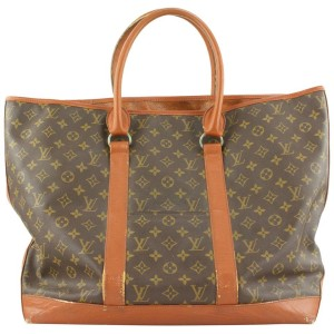 Louis Vuitton XL Monogram Sac Weekend GM Zip Tote Bag 229lvs211