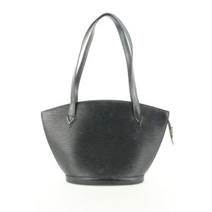 Louis Vuitton Black Epi Leather Saint Jacques Zip Tote Bag 353lvs224