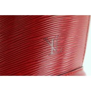 Louis Vuitton Red Epi Saint Jacques Tote GM Zip Shoulder Bag 173lv0