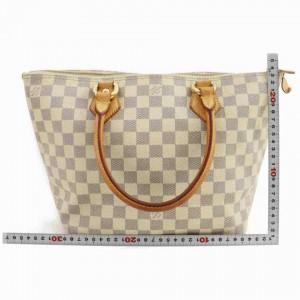 Louis Vuitton Saleya Pm Zip 860058 White/Cream Damier Azur Canvas Tote